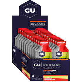 GU Energy Roctane Energy Gel Box 24 x 32g, Cherry Lime